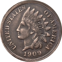 1909-S Indian head cents coin copia