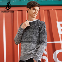 Pioneer Camp New Men Sweater Brand Clothing Fashion Knitted Sweater Pullover Male Quality 100 Cotton Autumn