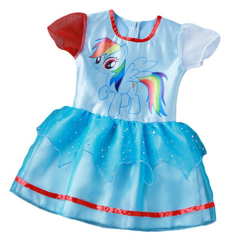 530ed3eb67 New Hot Sale My Baby Girl Dress Children Girl little Pony Dresses Cartoon  Princess Party Costume Kids Clothes Summer Clothing-in Dresses from Mother    Kids ...
