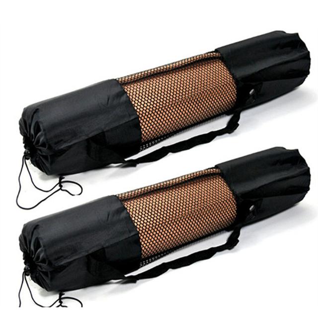 Sport Exercise Yoga Bag Canvas Practical Yoga Pilates Mat Carry Strap Drawstring Bag Gym Bag Fitness Backpack For Yoga Mat