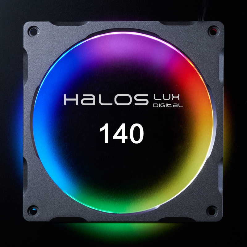 PHANTEKS Halos 14cm D-RGB Digital Coded Symphony Streamer Fan Aperture (5V) (Entrusted Motherboard Synchronization Control)