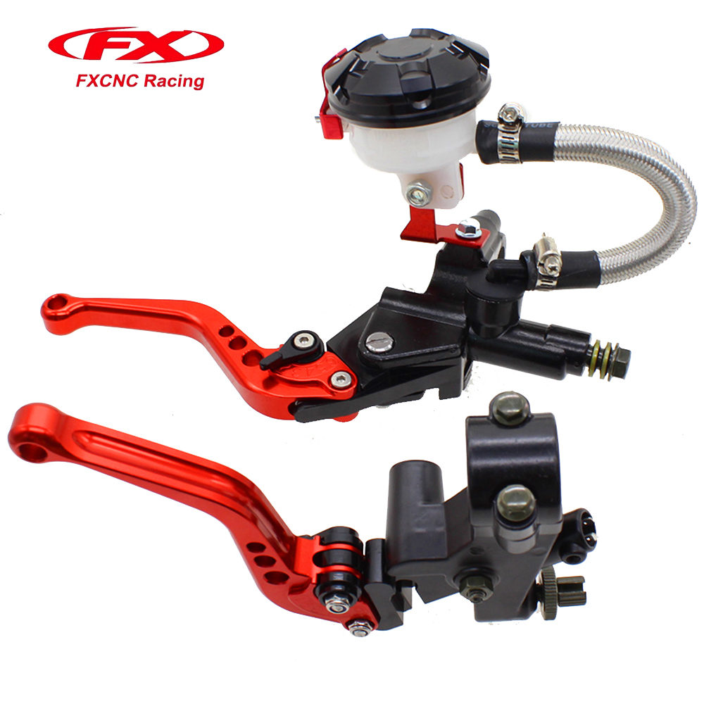 FX CNC Hydraulic Brake Cable Clutch  Red Set For YAMAHA Honda KTM KAWASAKI BMW 125-400CC Motorcycle Brakes Moto Parts светильник 3d light fx авто red