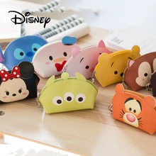 Disney Cartoon Portable Wallet Cute Stitch Winnie The Pooh Mickey Mouse Women Multifunctional Storage Makeup Coin Bag Girl Toys(China)