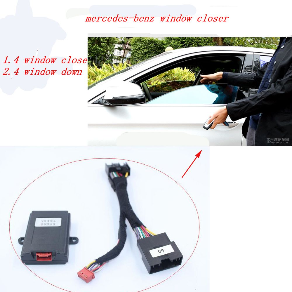PLUSOBD 2017 Auto Window Closer Power Auto Window Roll Up Automatic Close Car Windows Car Alarm System For Benz A W176 B W246 double din cd dvd stereo audio panel for lexus ls430 fascia radio ls 430 refitting in dash mount install dash kit face plate