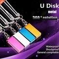 Grande capacidade real capacidade 360 metal pen drive de memória 64 gb/4 gb/8 gb/16 gb/32 gb u disk lanyard usb flash drive de armazenamento de metal