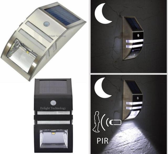 Smart LED Solar Security Light With PIR Motion Sensor 6pcs Lot Wholesale Wall