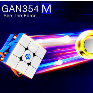 Image 3 - Gan 354 M Magnetic puzzle magic speed Gan cube 3x3 sticker less professional Gan354 M magnets cube GAN354M toys for kid