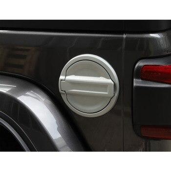 Dla Jeep Wrangler JL 2018 + samochód zbiornik paliwa pokrywa Car Styling akcesoria samochodowe listwy