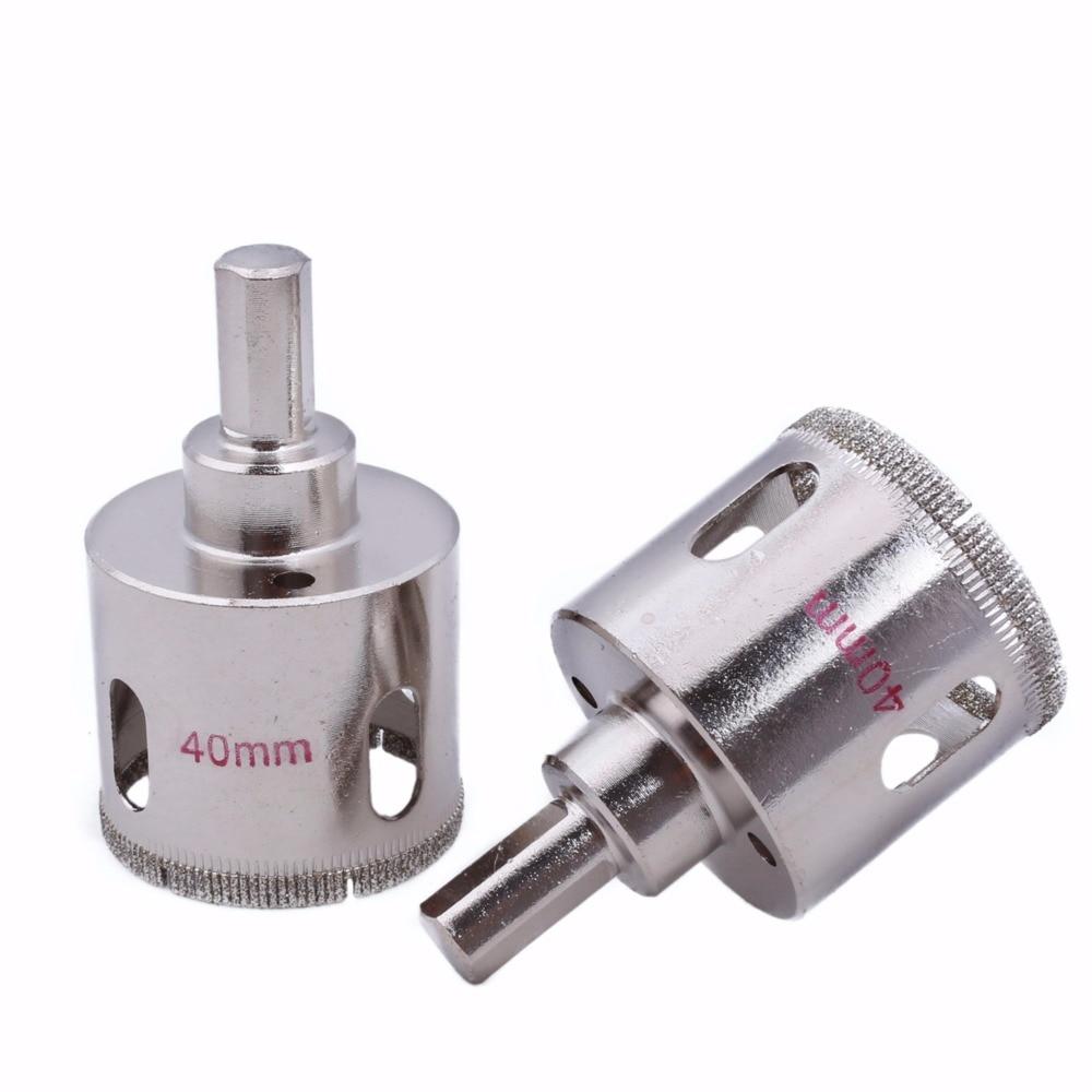 2 Pcs 20-40 mm Diamant Trou Scie Granit Foret Enduit Maçonnerie - Foret - Photo 4