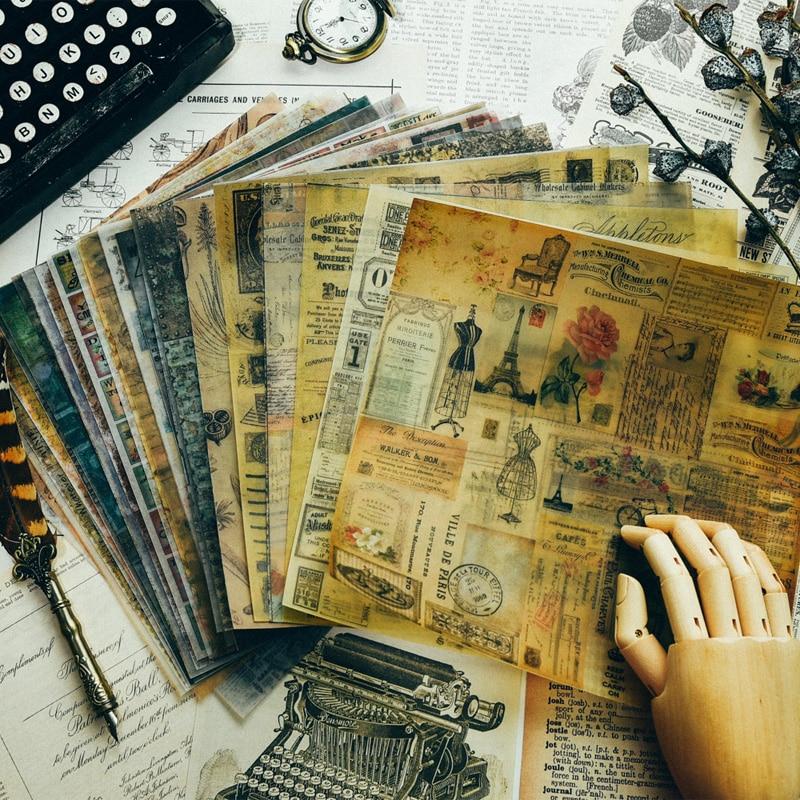 PJP ARTISANAT Motifs Vintage Papier Vélin pour Scrapbooking Planificateur Heureux/Fabrication De Cartes/Journalisation Projet