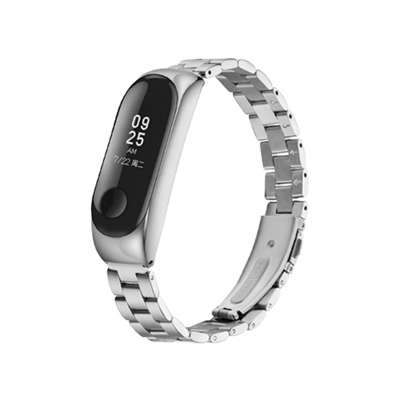 Mi band 3 Stainless steel wrist strap replaceable watch straps for xiaomi mi band 3 metal watch band smart bracelet Wristband in Smart Accessories from Consumer Electronics