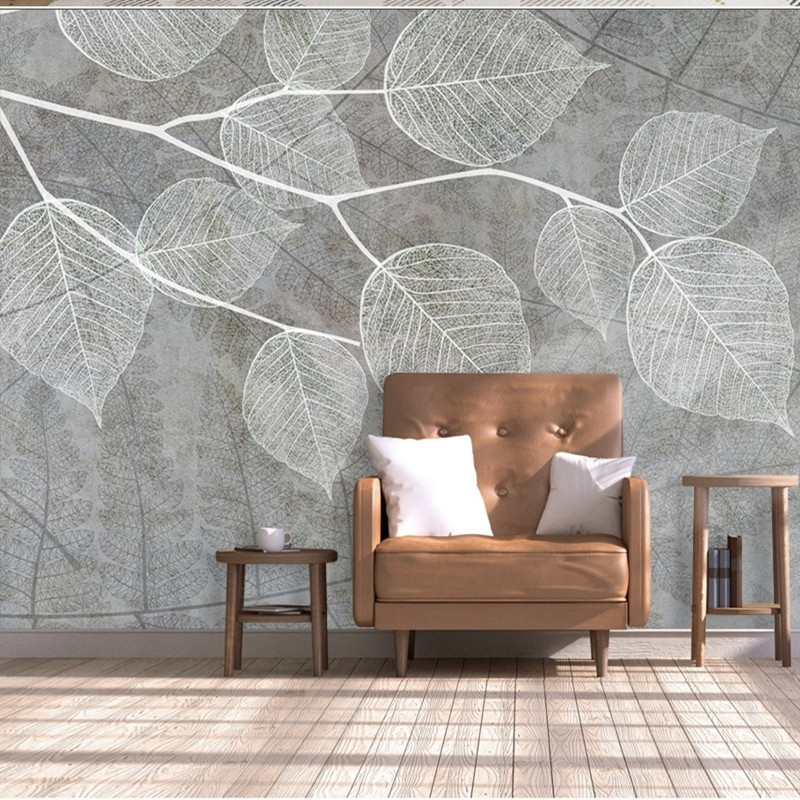 Modern Light Grey Wallpapers For Walls 3d Photo Wall Papers Living