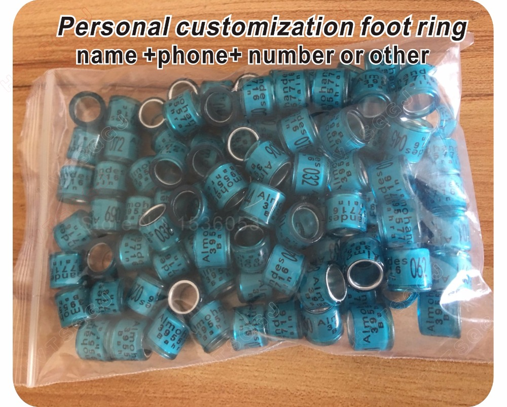 Image 3 - Personal customization pigeon rings bird ring leg rings identify dove bands 8mm plastic aluminium rings-in IC/ID Card from Security & Protection