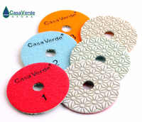DC-SFW3PP02 4 inch dry/wet 3 step polishing pads for stone