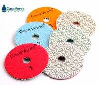 DC SFW3PP02 4 polegada seco/molhado 3 passo almofadas de polimento de pedra|polishing pad|polishing pad 3wet polishing pads -