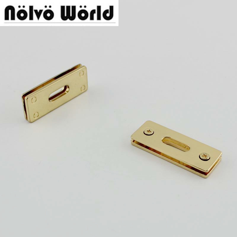 20pcs 44X16mm Gold Silver Tone Squared Grommet For Purse Bags Straps Bracelet Belt Connect Metal,alloy Eyelets With Screws