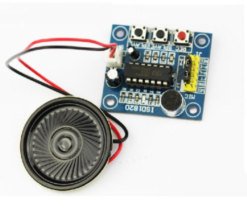 ISD1820 Sound Voice Recording Playback Module With Mic Sound Audio + Loudspeaker isd1760 audio sound recording module w microphone deep blue