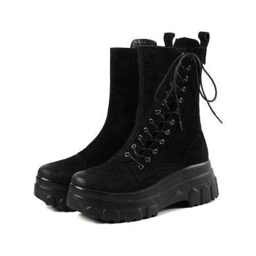 Zapatos 10 Brown Yifsion Casuales d0887 Las Tacón 4 D0887 Redondo Negro Alto Encanto Dedo Tobillo Nos Pie Botas Bottom Marrón Del Tamaño Mujeres Black Muffin Nuevas De Martin pwqpafg