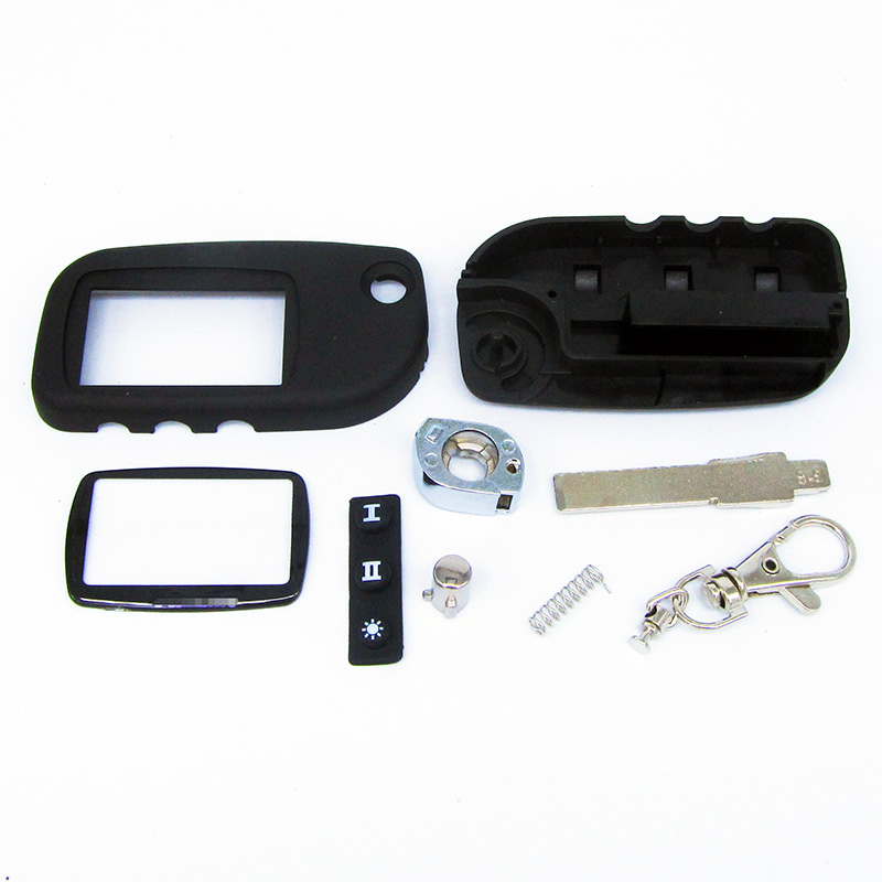 Free Shipping New arrival case for Starline A9 A8 A6 uncut blade fob case cover A9 FOB alarm switchblade key + A9 A6 A8 Glass