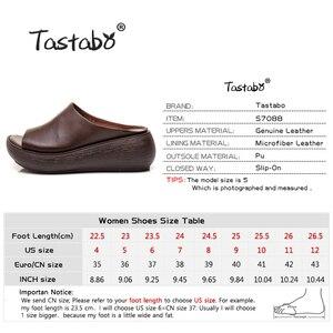 Image 3 - Tastabo 2019 yaz bayanlar terlik plaj ayakkabısı Vintage işçilik eğlence tarzı kalın tabanlı günlük ayakkabı rahat 40