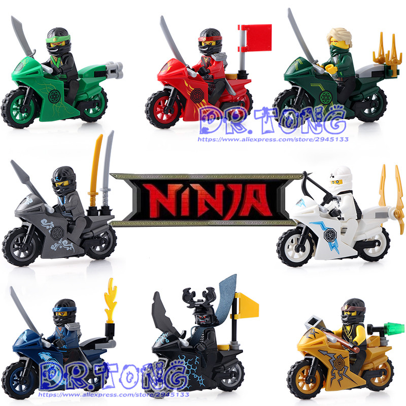 DR TONG 80PCS/LOT DLP9060 Ninja Blocks Figures Building Blocks Toys Ninja Zane KOZU Jay Kai Cole Diy Toys Children Gifts building blocks compatible with legoinglys ninjagoinglys sets ninja heroes kai jay cole zane nya lloyd weapons action toy figure