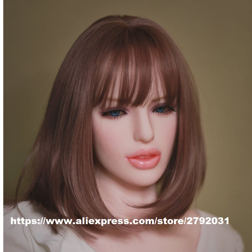 Oral <font><b>Sex</b></font> <font><b>Doll</b></font> Head Japanese Lifelike Silicone Love <font><b>Dolls</b></font> Heads fit 140-<font><b>175CM</b></font> Body for Adult men Masturbator Sexy Toys image