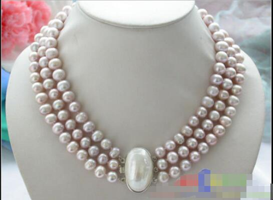 Hot 25mm white biwa dens freshwater pearl necklace mabe pendant 18 inch