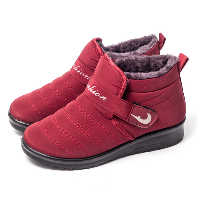 Women Winter Shoes Waterproof Snow Boots women Casual shoes Keep Warm FurAnkle Boots Inside Antiskid Bottom Warm Mother Boots size 35 43 waterproof women winter shoes snow boots warm fur inside antiskid bottom keep warm mother casual boots bare shoes 40a