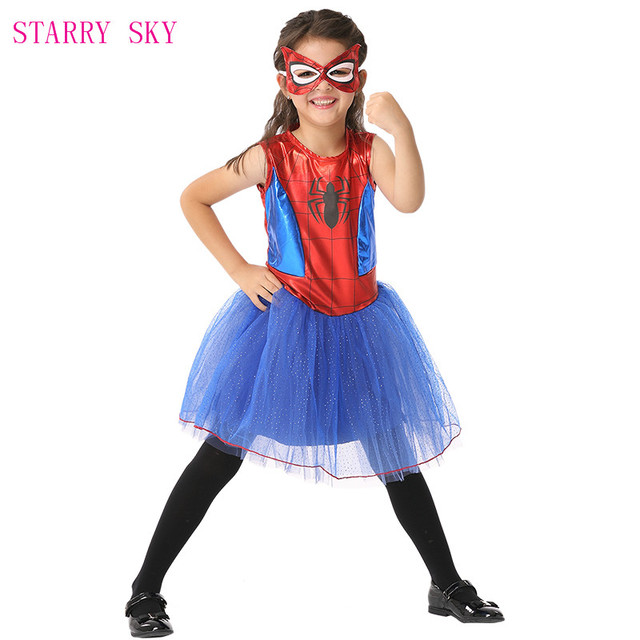 spider girls costume halloween fancy masquerade party performance clothes spiderman cosplay dance dresses christmas costumes