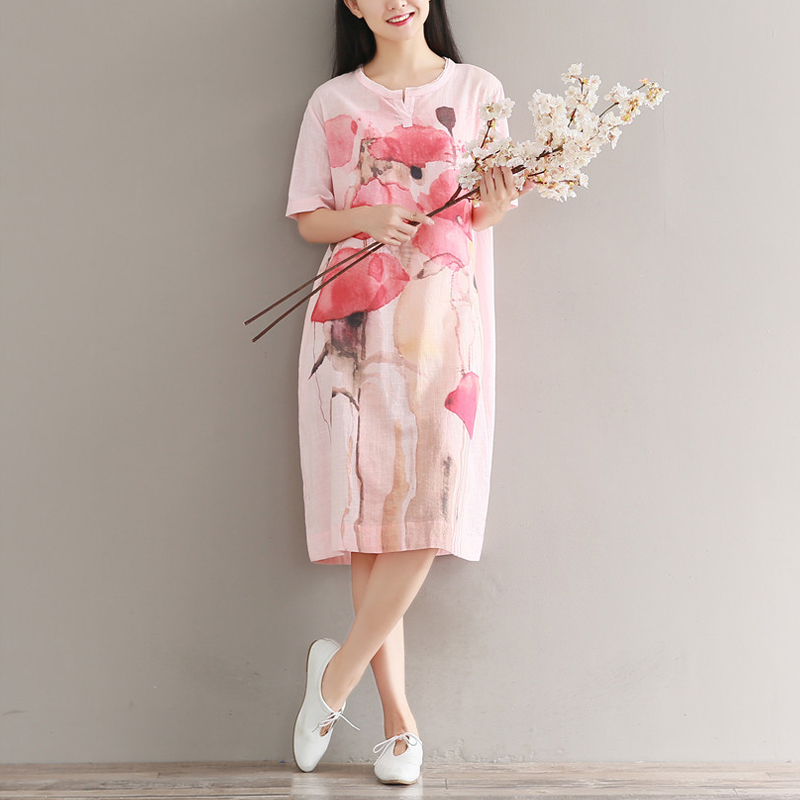 Cotton Vintage Elegant Glitter Work Tunique Femme Kawaii Vestito Donna Festival Jeans Unice Pencil Bohemian Women Summer Dress