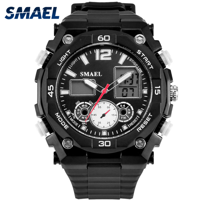 1801092e6 New Dual Time Sport Watches for Young Men Waterproof S Shock Analog  Digital-watch LED Men Watches Best Gifts for Children WS1363
