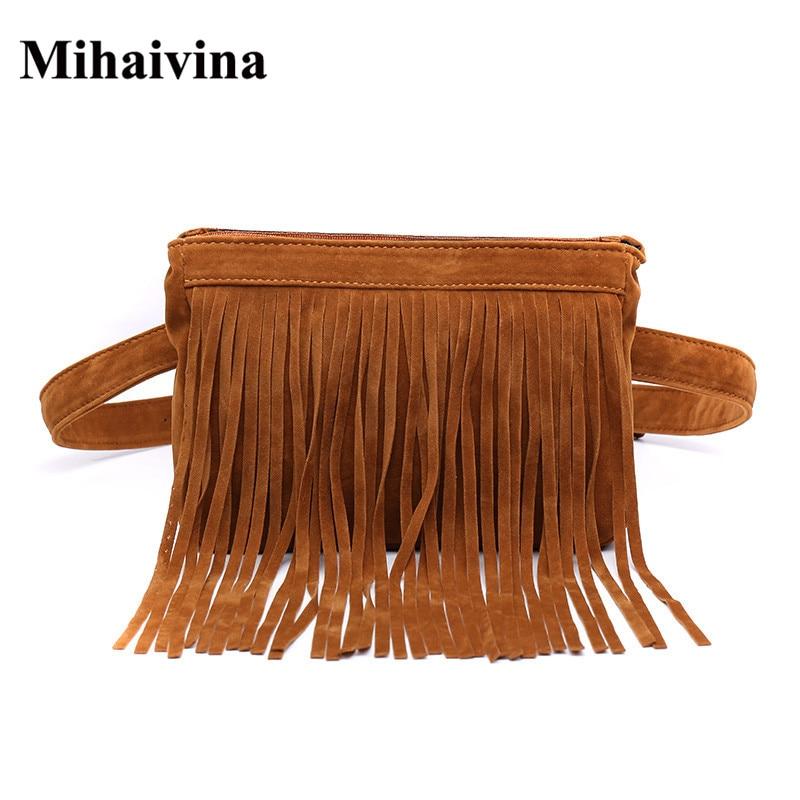Mihaivina אופנה מותניים תיק עבור נשים - שקיות חגורה