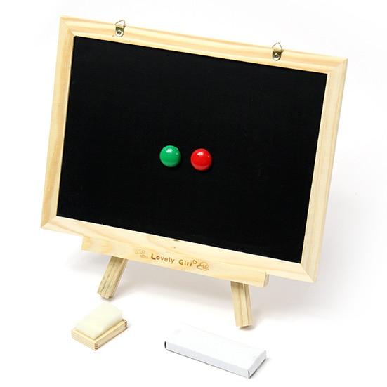 لعبة خشبية معفاة من رسوم بريدية للأطفال ، على السبورة المغناطيسية على الوجهين مع حامل ثلاثي الأرجل ، كل أنواع تعلم الرسم ، لوحة الرسائل