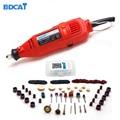 BDCAT 180 Вт электрический Dremel Мини дрель полировальный станок с переменной скоростью роторный инструмент с 106 шт. аксессуары для электроинстру...