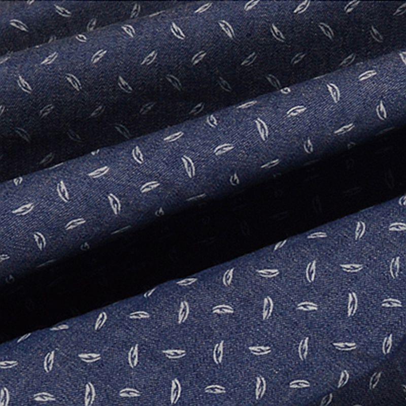 """מכירה לוהטת Xintianji 2018 חדש באיכות גבוהה דק מודפס ג 'ינס בד ג' ינס ושמלה בקיץ 45*140 ס""""מ /חתיכה TJ1542"""