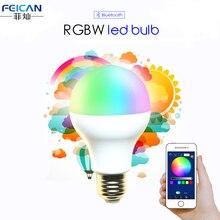 AC85-240V 5 W 7 W 9 W RGBW Bluetooth Lâmpada LED Bluetooth 4.0 Mudança de Cor Da Lâmpada de Iluminação Inteligente versão Dimmable E27 LEVOU lâmpada