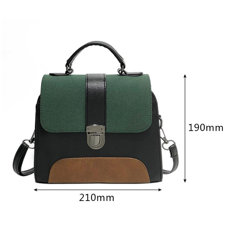58a02c603692 Casual Women PU Leather Sling Handbag Girls Crossbody Bag Patchwork Color  Messenger Shoulder Bag Features  Exquisite design  generous