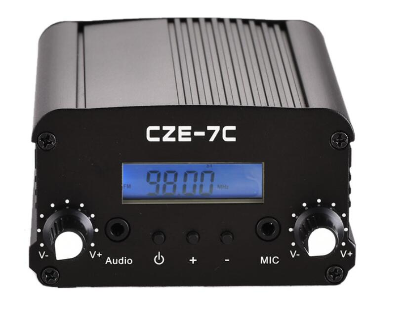 CZH CZE-7C 7W FM stereo PLL broadcast transmitter 76-108MHZ FREE SHIPPING old version degen de1103 1 0 ssb pll fm stereo sw mw lw dual conversion digital world band radio receiver de 1103 free shipping