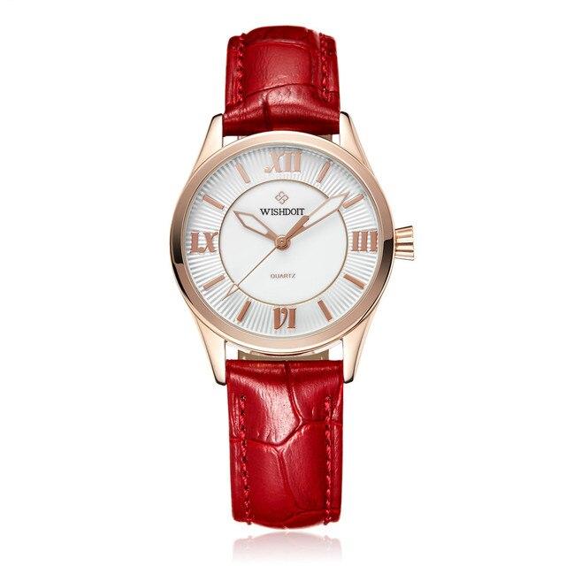 2cf48cab722 Wishdoit senhoras relógios relógio de ouro as mulheres se vestem de marca  de topo das mulheres