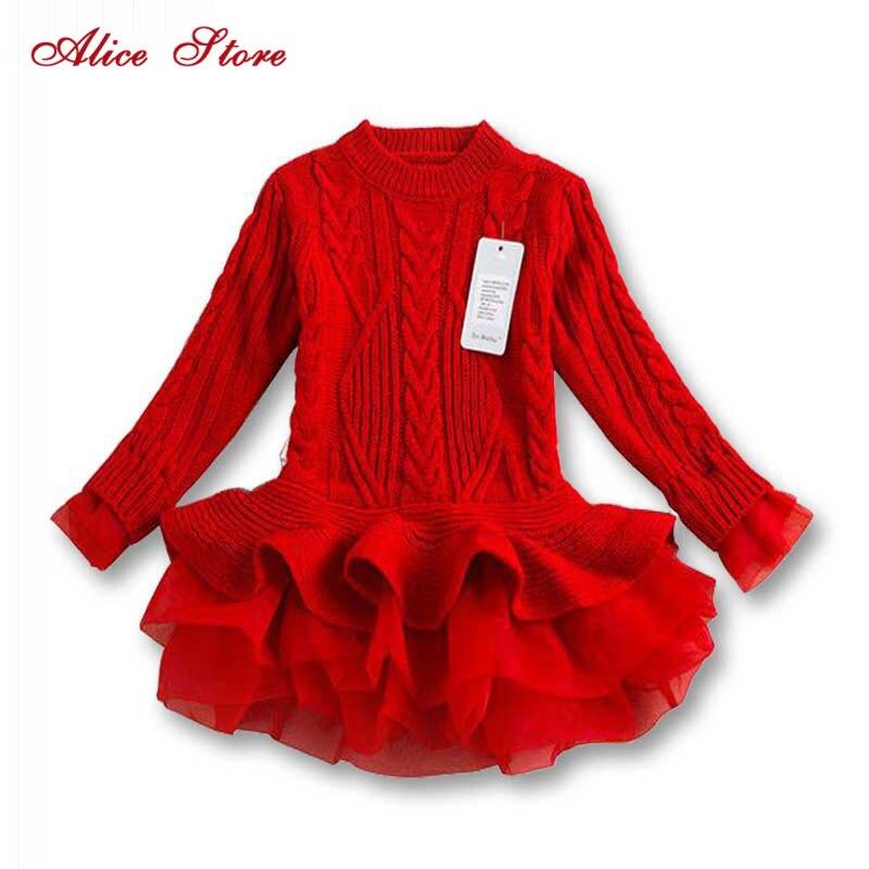 3729304927bde Nouveau 2018 Filles Chandail tricoté Automne Hiver Enfants Vêtements Pulls  Chandails Crochet Enfants Fille Vêtements 4 ...