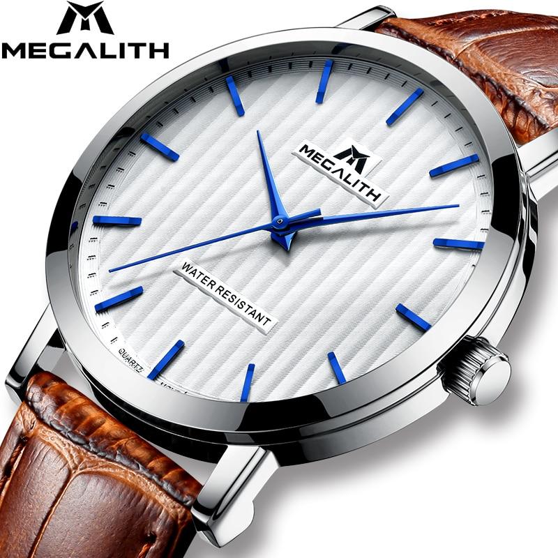 fd4d02e06d29 Comprar Megalito relojes para hombres impermeable fecha analógicas de los hombres  relojes de moda Casual relojes para hombre marca de lujo reloj de pulsera  ...