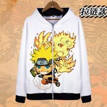 2017 New Anime Naruto Hoodies Naruto Uzumaki cosplay Costume Harajuku cartoon Sweatshirts Akatsuki Zipper Jacket