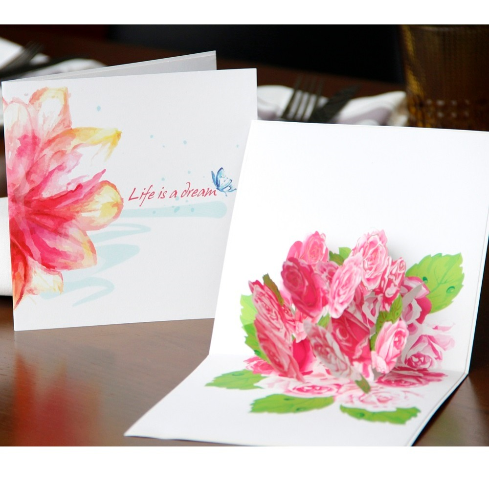 3d Pop Up Mothers Day Postcards Love Mom Gifts Thank You Greeting
