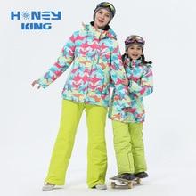Mutter Mädchen Ski Anzüge Warme Wasserdichte Winddicht Kinder Skifahren Snowboard Jacken + Hose Winter Erwachsene Kinder Ski Kleidung Anzug