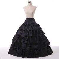 Free shipping black ball gown Bridal petticoat 5 layers black weddingPetticoats in stock cheap wedding petticoat