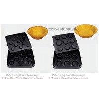 Envío Libre antiadherente Pastelería Molde de Tarta de Huevo Molde De La Cáscara Placa Tartaletek Hornear Placa de reemplazar para Tartaleta de Conchas máquina