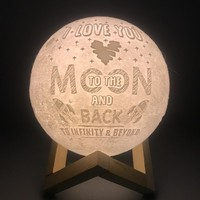 3D Printing Led Moon Lamp Customized Led Moonlight Night Lamp Home Decoration for Children Kids Creative Gift USB Rechargeable