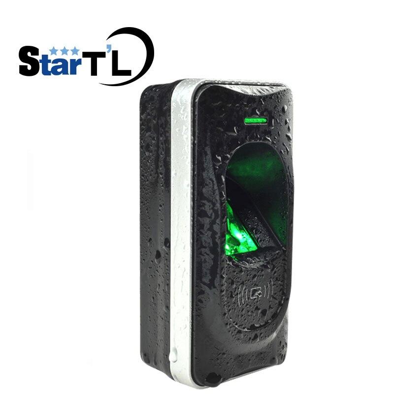 Wholesale ZK FR1200 Waterproof fingerprint slave reader work with F18/TF1700 RS 485 Fingerprint and Ic card reader fr1200 rs 485 fingerprint