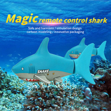 2017 Hot Sale Kids Baby RC Shark Fish Coke Can Radio Control Mini Electronic Boat Children Toy Gift 3CH 4 Way