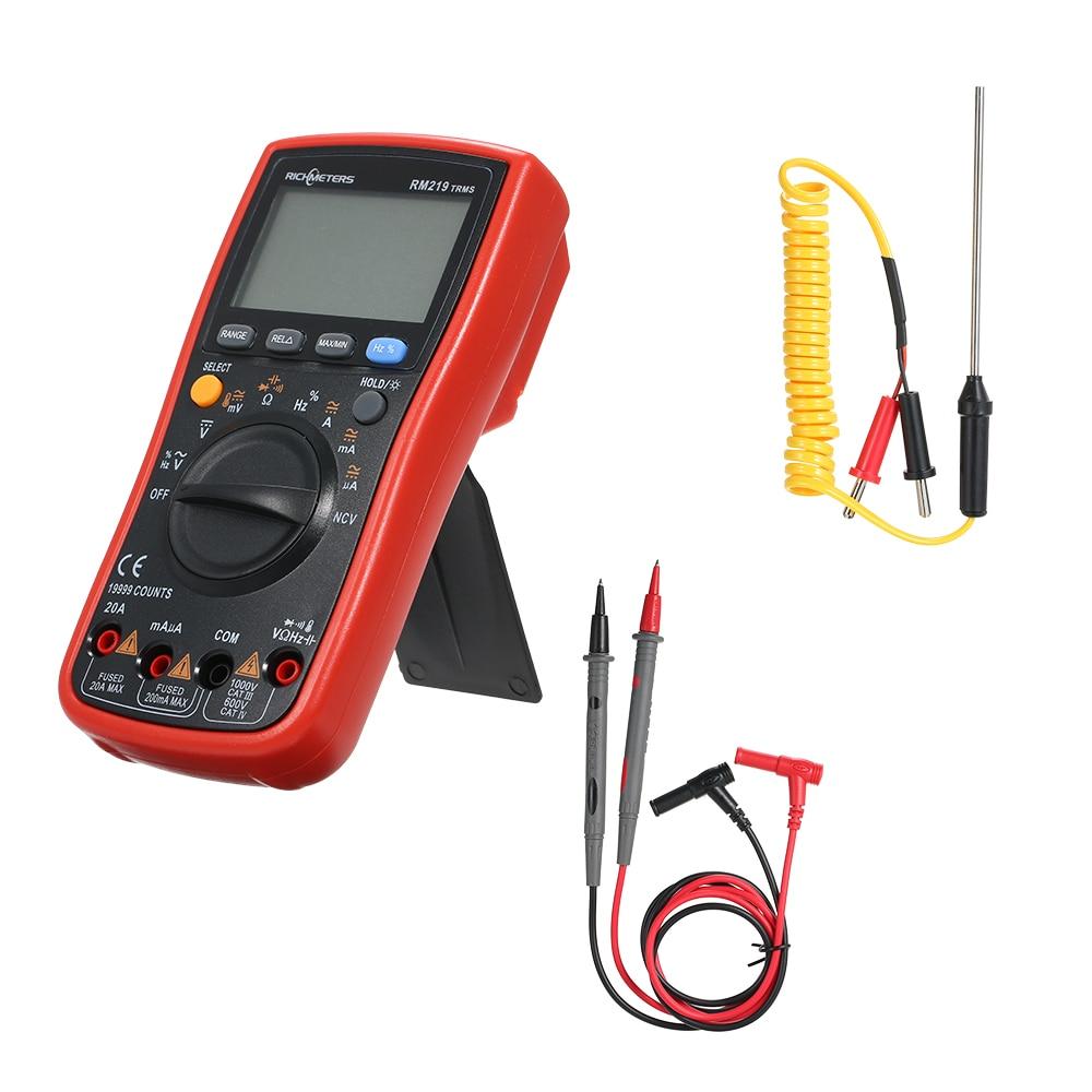 Digital Multimeter Multimetro RM219 True-RMS 19999 Counts Frequency AC DC Voltage Ammeter Current Esr meter Transistor Tester
